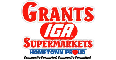 A theme footer logo of Grant's Supermarket